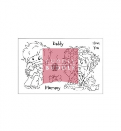 Cuddly Buddly Clear Stamps Little Poppets & Paws CBS0019