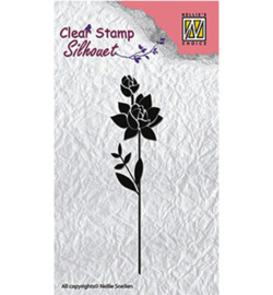 Nellie Clear Stamps Silhouet SIL017  -  Flower 11