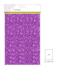 CraftEmotions glitterpapier 29 x 21 cm 5 vel Paars 001290/0130