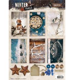 Studio Light - Easy 3D A4 Stansvel Winter Trails -  nr 626