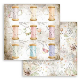 Stamperia -  Romantic Threads - Thread - Paper - 30.5 x 30.5  cm
