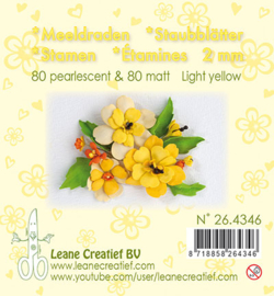 Leane Creatief - Meeldraden Matt & Pearl - Light Yellow