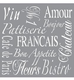 Americana Decor Stencils French Living ADS05