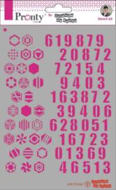 Pronty  Mask Stencils - Jolanda de Ronde - Numbers