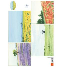 Marianne Design- A4 Knipvel - Tiny's background: landscape -  IT596