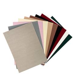 Joy!Crafts - Fluweelpapier A4 - Donkere / Natuur kleuren