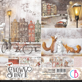 Ciao Bella -Memories of a Snowy Day -PaperPad 20.3 x 20.3 cm CBH048