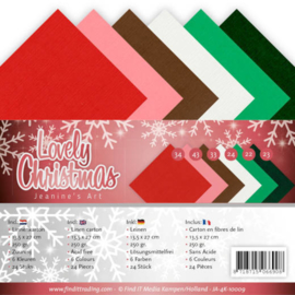 Linnenpakket - 4K - Jeanines Art - Lovely Christmas