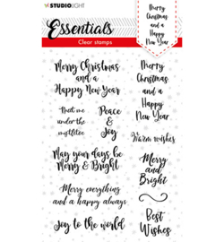 SL Clear stamp Christmas Handletter Merry Christmas ENG Essentials nr.88