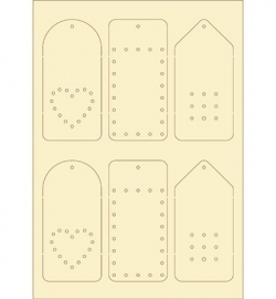 Dutch Doobadoo Softkarton A5 Labels Embroidery 478.004.007