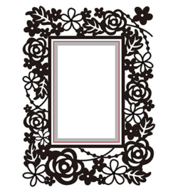 Cutting and Embossing Dies - Rectangle - floral  HSEFD004