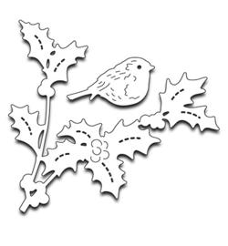 Penny Black Creative Dies - Bird amidst holly 51-260