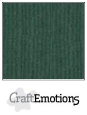 CraftEmotions Linnenkarton 27 x 13,5 cm Smaragdgroen 001235/1015