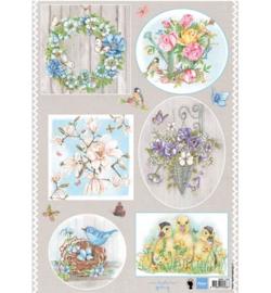 Marianne Design A4 Knipvel Els(EWK)Country Flowers 1 - EWK1247