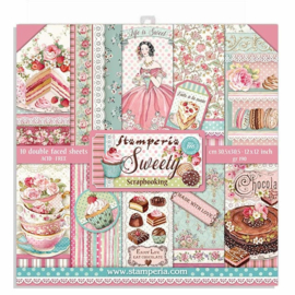 Stamperia - Sweety - Paperpad  30,5 x 30,5 cm