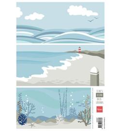 Marianne D 3D Knipvellen Eline`s background ocean AK0067