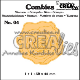 Crealies Combies - Stans + Stempel  - 04 Roos