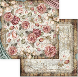 Stamperia -  Passion - Roses and Laces -Paper -30.5 x 30.5  cm