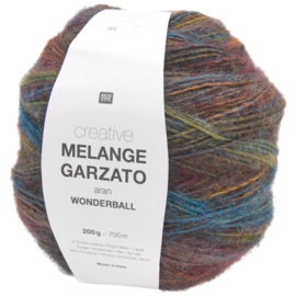 Rico Creative  -  Melange Garzato aran Wonderball   -  Mustard Teal