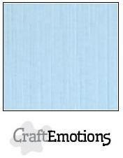 CraftEmotions linnenkarton 10 vel  Azuurblauw  30,5x30,5cm
