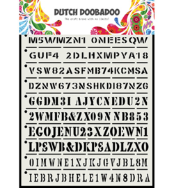 Dutch Doobadoo Mask Art -  Stripes  -A5 - 470.715.160