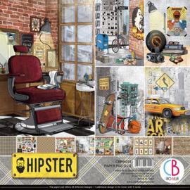 Ciao Bella - Hipster - Dubbelzijdig Paper pad 30,5 cm x 30,5 cm. - CBPM035