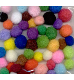 Mix Pom-Pom set - assorti - 48 stuks