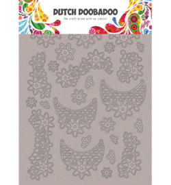 DDBD Greyboard Art Lace flowers A5 - 492.006.005