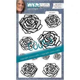 COOSA Crafts • Clear Stempel A6 Love my jeans - Rose patch