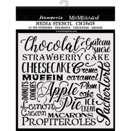 Stamperia Thick Stencil - 18x18cm - Chocolate