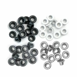We R Memory Keepers • Standard eyelets Grey 60pcs