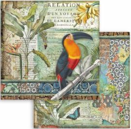 Stamperia - Amazonia -  Toucan - Paper - 30.5 x 30.5  cm