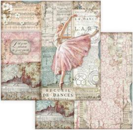 Stamperia -  Passion - Dancer - Paper - 30. 5 x 30.5 cm