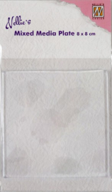 Nellie Snellen - Mixed Media Gelplate - Vierkant 80 x 80 mm