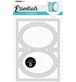 SL Cutting Die Oval zig-zag cardshape Essentials nr.17