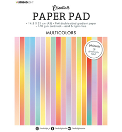 Studio Light Paper Pad Double sided Gradient  Multicolors Essentials nr.20
