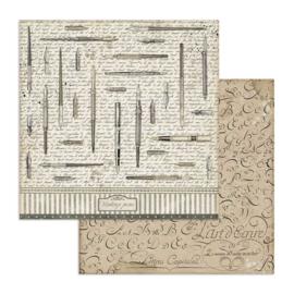 Stamperia - Calligraphy - Paper - 30,5 x 30,5 cm