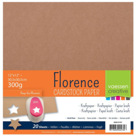 Florence - Cardstock Kraftpaper  30,5x30,5cm - 20 vel