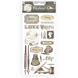Stamperia - Calligraphy - Chipboard