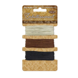 Stamperia Cord Ivory - Brown - Black