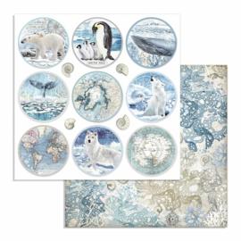 Stamperia - Arctic Antarctic - Paper - 30,5 x 30,5 cm. - Rounds