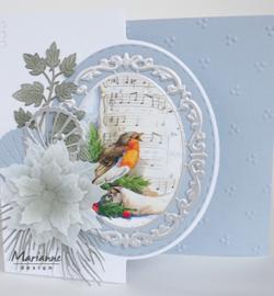 Marianne Design -  3D Knipvellen A4 - Christmas Robins -  VK9578