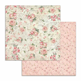 Stamperia - Pink Christmas - Paper - 30,5 x 30,5 cm - Rose Wallpaper