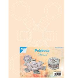Joy!Crafts -   Poly Besa Stencil - Explosiedoosjes  6005/0010