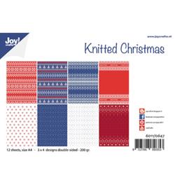 Joy! Crafts Paper set A4 Noor Design  Gebreide kerst 6011/0647
