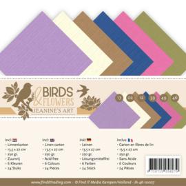 Linnenpakket - 4K - Jeanines Art - Birds and Flowers