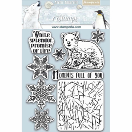 Stamperia - Natural Rubber Stamp -  Arctic Antarctic Moments Full of You