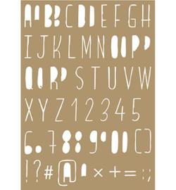 Joy!Crafts - Poly Besa Stencil  6002/0849  -  Lettering stencils