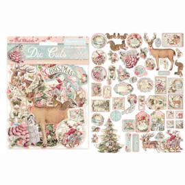 Stamperia - Pink Christmas - Die Cuts