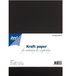 Kraft Papier Black A4 / 29,7 x 21 cm 8089/0241